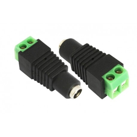 DC Steckverbinder Hohlbuchse 5,5x2,1mm Adapter Netzteil Kupplung Videoüberwachung