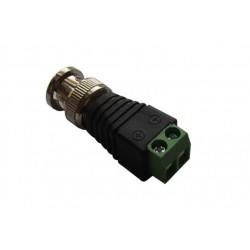 Conector BNC con bornes de tornillo para la videovigilancia
