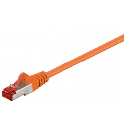 10 Meter CAT 6 Patchkabel, S/FTP (PiMF), Orange