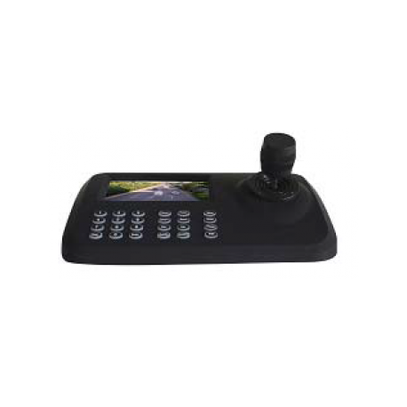 Netzwerk PTZ-Steuerpult mit integr. Bildschirm für IP Kameras bis 5 Megapixel