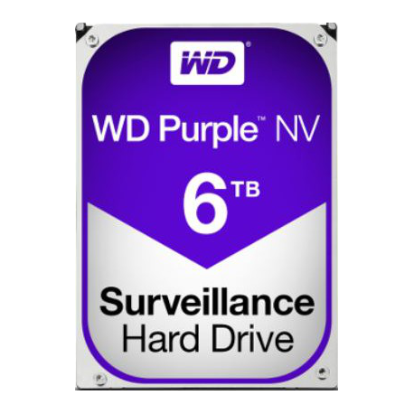 WD Purple 6TB SATA 6Gb/s CE HDD 8,9cm 3,5Zoll internal IntelliPower 64MB Cache 24x7 Bulk