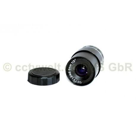 Lens 6 mm for video surveillance