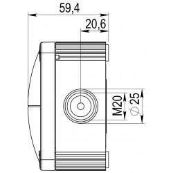 Abzweigkasten, Abzweigdose aus Kunststoff 1xStück