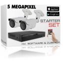 Videoüberwachung 5 Megapixel Starter Set inkl. Zubehör und Software