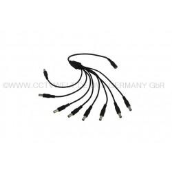 Stromadapter Verteiler Splitter Adapter-Stecker 8-fach für IP Kameras und IR Scheinwerfer 5,5 x 2,1 x 12mm