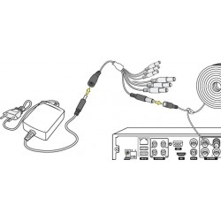 Stromadapter Verteiler Splitter 4-fach für IP Kameras und IR Scheinwerfer 5,5 x 2,1 x 12mm