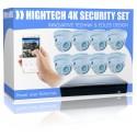 Pacchetto completo di videosorveglianza Ultra HD 4K PoE completo di software