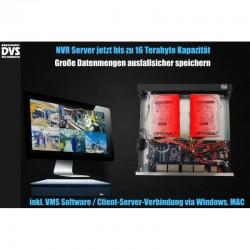 UHD Videoüberwachung Set mit 8 Dome 4K PoE Kameras inkl. Software