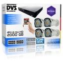 Professionelle 4K Video Sicherheitsystem mit PoE 8MP Bullet Kameras 2000GB Festplatte