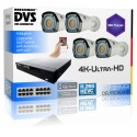 UHD Profi-Überwachungsanlage 4K Recorder IP PoE Bullet Kamera H265 ONVIF