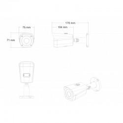 UltraHD Überwachungskamera Set mit NVR-Recorder und 8 IP PoE 8 Megapixel Kameras