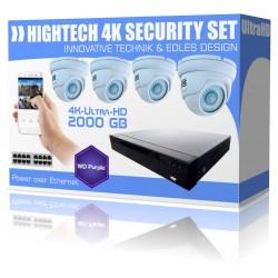 Videoüberwachung mit Überwachungskamera und Netzwerkrekorder 2000GB