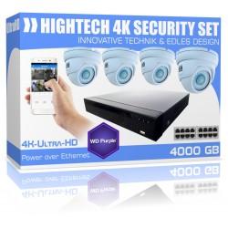 UltraHD Videoüberwachung 4000GB 4K Dome Überwachungskamera Set