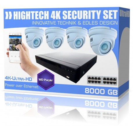 Videoüberwachung Kamera Set 8000GB UltraHD Überwachungskameras