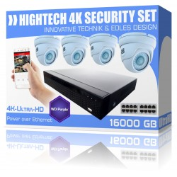 Video surveillance surveillance cameras and 4K recorder 16GB memory incl. PoE cameras
