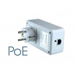 Powerline PoE LAN Steckdose: PoE-Powerline-Netzwerkadapter 1200 Mbit/s Internet über die Steckdose