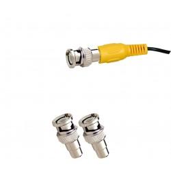 2 Stück BNC/Cinch-Adapter für TV Gerät Videoüberwachung