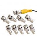 10 Stück BNC/Cinch-Adapter für TV Gerät Videoüberwachung