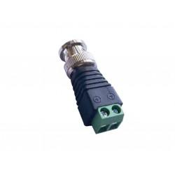 Connecteur BNC avec borniers à vis pour la vidéosurveillance