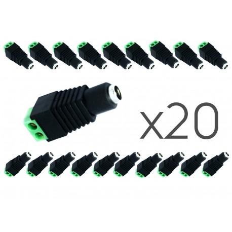 10 PCs. conector hembra