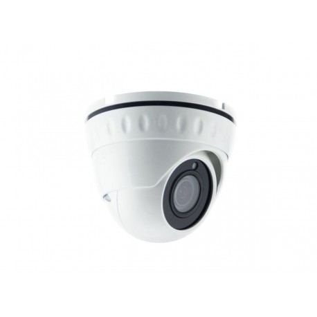 5 megapixel IP PoE dome camera with integrated microphone