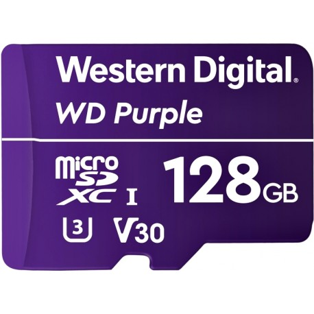 Micro SDXC WD Purple 128GB Surveillance