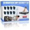 Aussenkamera: 8er-Set 5 Megapixel-HD-Überwachungskameras mit App, IP66 inkl. Rekorder, Aussenkamera