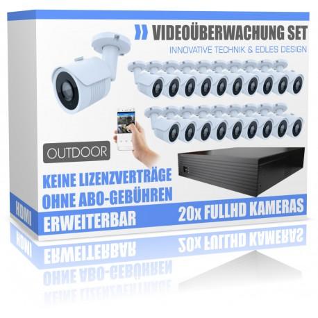 Professionelle Videoüberwachung Set mit 16 HD Nachtsicht- Kameras