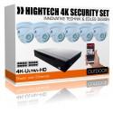 4K Videoüberwachung- 6x UltraHD IP PoE Kameras inkl. IP Rekorder ideal für Gastronomie