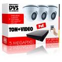 Videoüberwachung mit integriertem Mikrofon PoE 5MP Komplettsystem Starterset