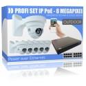UltraHD 8 Megapixel IP PoE Komplettset mit LED-Nachtsichtfunktion - Wandmontage