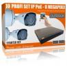 8MP Komplett Paket - 4x UltraHD IP PoE Kameras inkl. 8000GB HDD Rekorder