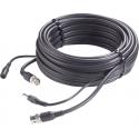 10m MiniRG59 Kombikabel für Full HD Videoüberwachung Video/Strom