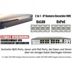 Ultra HD Überwachungskamera System Set, 4K PoE NVR 8.0MP Kameras