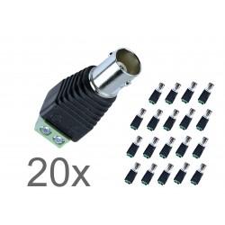 BNC-Steckverbinder Buchse 5 Stück, gerade 50 Ω für Videoüberwachung