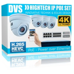 Überwachungskamera 4K Videoüberwachung PoE 8 Megapixel Kamera Set Internet App