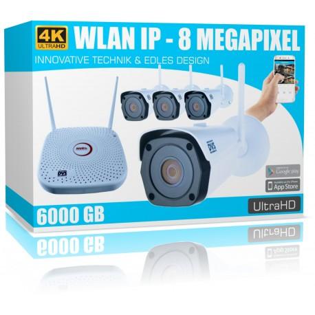 UHD Video Funk Überwachungssystem IP Video Überwachungskamera Set mit 8000GB WD FestplatteKatalog Artikel Vorschau Duplizieren