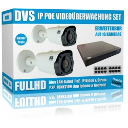 IP HD Videoüberwachung Set mit IP Dome Kameras