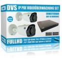 IP 2.4MP HD Videoüberwachung Set mit 2 IP Bullet Kameras und NVR