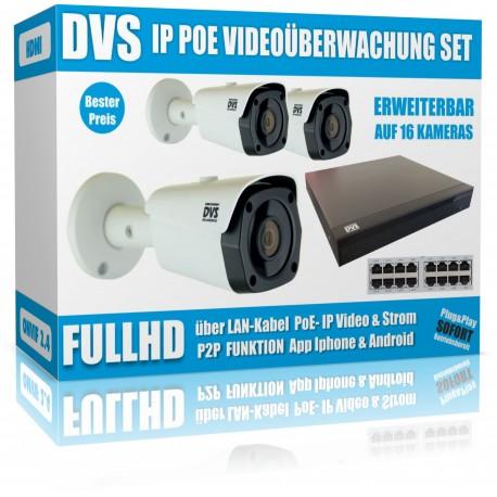 IP HD Videoüberwachung Set mit IP Buller Kameras