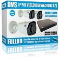 IP 2.4MP full HD fotocamera set con 3 telecamere bullet IP e NVR