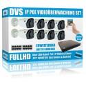 IP PoE Überwachungsanlage Set mit 8x 2.4MP FULLHD Überwachungskameras