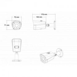 IP  PoE Überwachungskamera Set 2.4MP