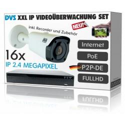 IP Videoüberwachung Set mit 16 IP PoE DOME Kameras inkl. Zubehör