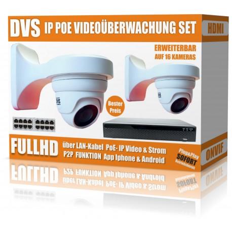 Surveillance vidéo IP HD sertie de caméras dôme IP