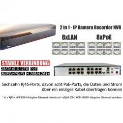 IP HD Videoüberwachung Set mit 2 IP DOME Kameras und NVR inkl. Zubehör