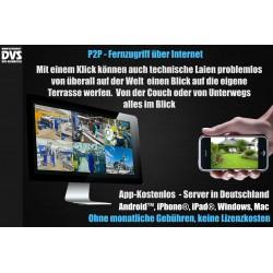 Professionelle 4K UltraHD Videoüberwachung 4000GB Dome Überwachungskamera Set Katalog   Artikel