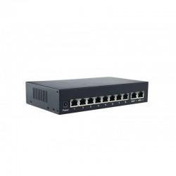 PoE Switch 8 Kanal PoE 10/100/1000M + 2UpLink für Videoüberwachung