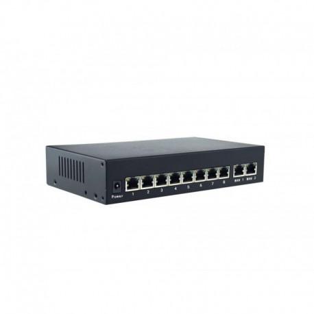 PoE Switch 8 canaux + 1 canal UpLink