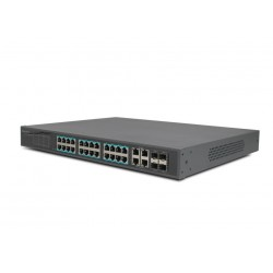 PoE Switch 16 Port Gigabit Desktop bis 250 Meter IEEE802.3af/at Lüftrerlos